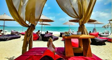 Activités de Plage la Bohemia Beach Lounge sur Lamai beach a Koh Samui