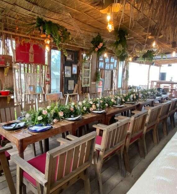 Location de salle mariage, anniversaire, reunion de groupe a La Bohemia Beach a Koh Samui.