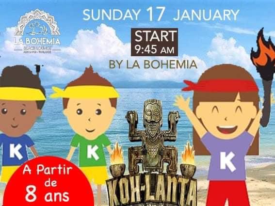 Koh-Lanta Kids pour les enfants a Koh Samui, La Bohemia Beach.